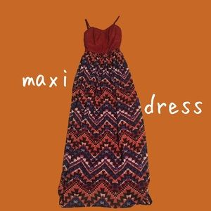 Aztec Design Maxi Dress